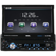 "Soundstorm 7"" Single Din DVD Receiver Motorized touchscreen with detachable Face Bluetooth (R-SD726MB)"