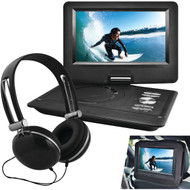 "EMATIC EPD116BL 10"" Portable DVD Player with Headphones & Car-Headrest Mount (Black) (R-SHAGEPD116BL)"
