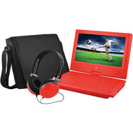 "EMATIC EPD909RD 9"" Portable DVD Player Bundles (Red) (R-SHAGEPD909RD)"