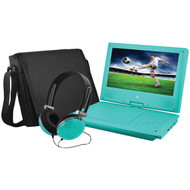 "EMATIC EPD909TL 9"" Portable DVD Player Bundles (Teal) (R-SHAGEPD909TL)"