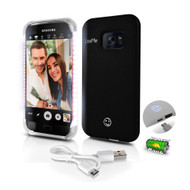 Lite-Me Selfie Lighted Smart Case, Phone Protection with Built-in Power Bank & LED Lights (for Samsung Galaxy S7) (R-SL301S7BK)