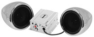 "Soundstorm Motorcycle System 3"" Chrome Speakers 600W Max Bluetooth Aux Input (R-SMC72BC)"