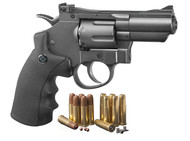 Crosman (Black/ Grey)Co2 Powered Dual Ammo Full Metal Snub Nose Air Revolver (R-SNR357)