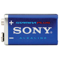 SONY S-6AM6B1A STAMINA(R) PLUS Alkaline Batteries (9V; Single) (R-SOBS6AM6B1A)