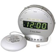 Sonic Alert SBT425ss Sonic Bomb(R) Alarm Clock with Telephone Signaler & Super Shaker(TM) (R-SONASBT425SS)
