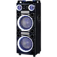 """Supersonic IQ-6210DJBT PRO 2 x 10"""" Bluetooth(R) DJ Speaker (R-SSCIQ6210DJBT)"""