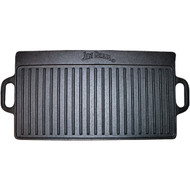 JIM BEAM JB0168 Double-Sided Cast Iron Griddle (R-STLAJB0168)