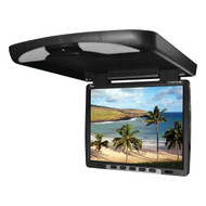 "Tview 14"" Flip Down Monitor With Built In Dvd Ir/Fm Trans Black (R-T144DVFDBK)"
