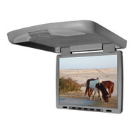 "Tview 14"" Flip Down Monitor With Built In Dvd Ir/Fm Trans Gray (R-T144DVFDGR)"