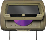 """Tview 9"""" Headrest Monitor With Dvd Player Sold In Pairs Tan (R-T939DVPLTAN)"""