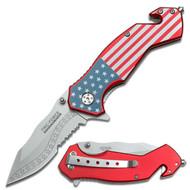 Tac Force Folding Knife American Flag (R-TF663SF)