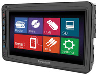"Farenheit Oversized Motorized 7"" Lcd Receiver Single Din Detachable Face (R-TI712T)"