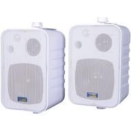 TIC CORPORATION ASP25W 3-Way Indoor/Outdoor 50-Watt Speakers (White) (R-TICASP25W)