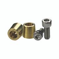 Energie Brass top posts (pair) 6mm screw (R-TPB6M)