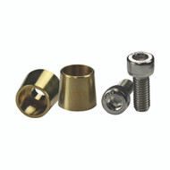 Energie Brass top posts  (pair) 8mm screw (R-TPB8M)