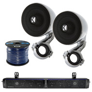 Hifonics 10-Speaker Bluetooth Soundbar,2X Kicker 4ohm Marine Speaker System,Wire (R-TPS10-1-40PSM34)