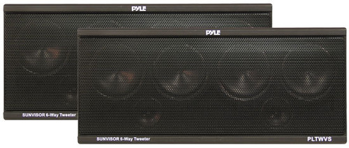 Pyle PLTWVS 6-Way Sunvisor Mount 200 Watt Tweeter System Car Audio