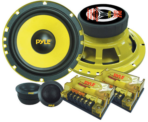 Pair Pyle PLG6C 6.5'' 400 Watt 2-Way Custom Component System