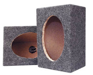Pyramid PMB69MT Empty Carpeted 6'' x 9'' Speaker Cabinet Sub Car Audio
