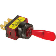 BATTERY DOCTOR 20500 On/off Illuminated 20-Amp Toggle Switch (Red) (R-WIR20500)