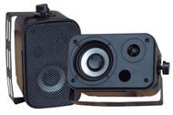 Pair Pyle PDWR30B 3.5'' Indoor/Outdoor Waterproof Speakers Black