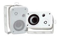 Pair Pyle PDWR30W 3.5'' Indoor/Outdoor Waterproof On-Wall Speakers White