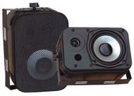"""Pair Pyle PDWR40B 5.25"""" Indoor/Outdoor Waterproof Speakers Black"""