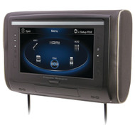 "POWER ACOUSTIK H-94 9"" LCD Universal Headrest with IR & FM Transmitters & 3 Interchangeable Skins (Monitor only) (R-POWH94)"