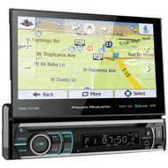 """POWER ACOUSTIK PDN-721HB 7"""" Incite Single-DIN In-Dash GPS Navigation Motorized LCD Touchscreen DVD Receiver with Detachable Face & Bluetooth(R) (R-POWPDN721HB)"""
