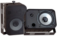 Pair Pyle PDWR50B 6.5'' Indoor/Outdoor Waterproof Speakers Black