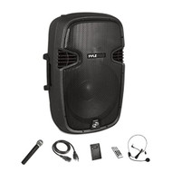 "Wireless & Portable Bluetooth Loudspeaker - Active-Powered PA Speaker System Kit, Built-in Rechargeable Battery (15"" Subwoofer, 1200 Watt) (R-PPHP1541WMU)"