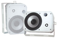 """Pair Pyle PDWR50W 6.5"""" Indoor/Outdoor Waterproof Speakers White"""