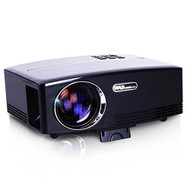 Compact Digital Projector, HD 1080p Support, Built-in Speakers, HDMI/USB/VGA (R-PRJG98)