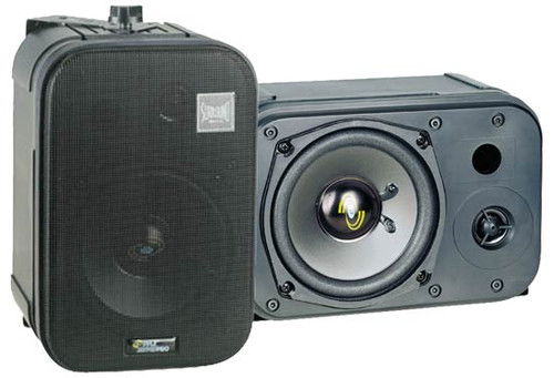 Pair Pyle PDMN48 5'' 2-Way Bass Reflex Mini-Monitor & Bookshelf/wall mount Speakers