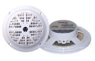 Pair Pyle PLMR51W 100 Watts 5.25'' 2 Way White Marine Speakers Kit
