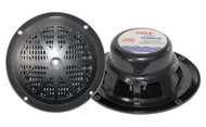 Pair Pyle PLMR61B 120 Watts 6.5'' Dual Cone Black Marine Speakers Kit