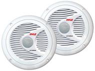 Pair Pyle PLMR60W 150 Watts 6.5'' 2 Way White Marine Speakers Kit