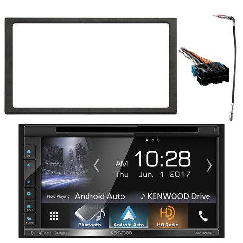 Kenwood 2 din bluetooth hd amfm radio receiver enrock double din image 1 greentooth Image collections
