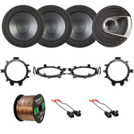 "4x Polk Audio MM6502 375W Ultra-Marine Certified 6.5"" Component Speakers, 4x Metra Speaker Wire Harness, 4x Speaker Mounting Brackets Adaptors, 16-Gauge 50 Foot Wire (Select 1995-2009 Vehicles)"