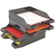 DEFLECTO 63904 Docutray(R) Multidirectional Stacking Tray, 2 pk (R-DEF63904)