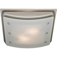 HUNTER 90064 Ellipse 100cfm Ceiling-Exhaust Bath Fan (Brushed Nickel) (R-HHC90064)