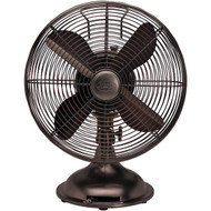 "HUNTER 90406 12"" Retro Personal Table Fan with Oil-Rubbed Bronze Finish (R-HHC90406)"