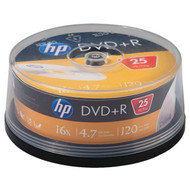 HP DR16025CB 4.7GB 16x DVD+Rs (25-ct Cake Box Spindle) (R-HOODR16025CB)