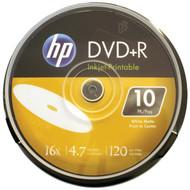 HP DR16WIJH010CB 4.7GB 16x Printable DVD+Rs, 10-ct Cake Box Spindle (R-HOODR16WIJH010)