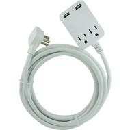 General Electric 32089 USB Extension Cord with Surge Protection, 12ft (R-JAS32089)