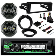 "Receiver, 2x 6-3/4"" Speakers, Mount Ring, Cover, Steering Control Interface (R-KDR97MBS-40CS674-82-9601)"