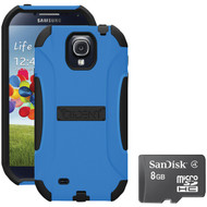 Trident S4 Aegis Case Blue With Sandisk Micro Sd 8gb (R-KITS4BLA8)