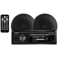 "Boss 508UAB CD/MP3 AM/FM Receiver With USB/SD Plus one Pair of 6.5"" Speakers (R-656BCK)"