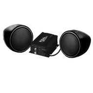"Boss Motorcycle/UTV Speaker and Amplifier System 3"" Bluetooth Speakers 600 Watts BLACK Housing (R-MCBK420B)"