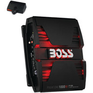 Boss PHANTOM 1000 Watts 2Channel Power Amplifier Remote Subwoofer Level Control (R-PT1000)